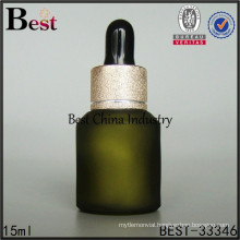 green essential oil bottle made in china, coloured glass bottles 15ml, silk printing service