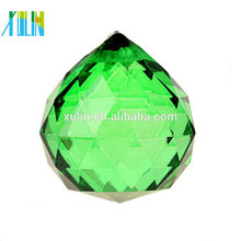 20mm Lustres Bola de Cristal Verde Bola Feng Shui Prismas