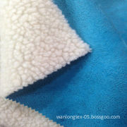 Velboa Lamb Pile Fabric Bonded Suede Fabric for Winter Apparel