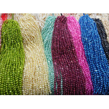 5-6mm AA Nugget Natürliche Perlenstränge