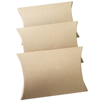 Caixa de papel de travesseiro criativo Eco-friendly de papel Kraft