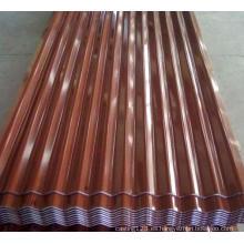 Hoja de techo de hierro corrugado galvanizado Color Terrocotta