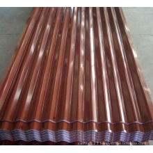 Terrocotta Color Galvanized Corrugated Iron Roofing Sheet