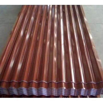 Feuille de mur ondulée trapézoïdale de haute qualité anti-corrosine