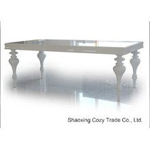 Moderna mesa de jantar de madeira dobrável