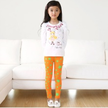 OEM 2015 Good Quality Breathable Star Printed Children Leggings