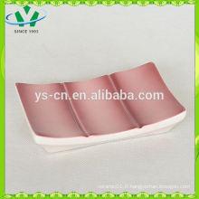 Porte-savon en céramique en bambou