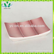 bamboo design ceramic soap dish