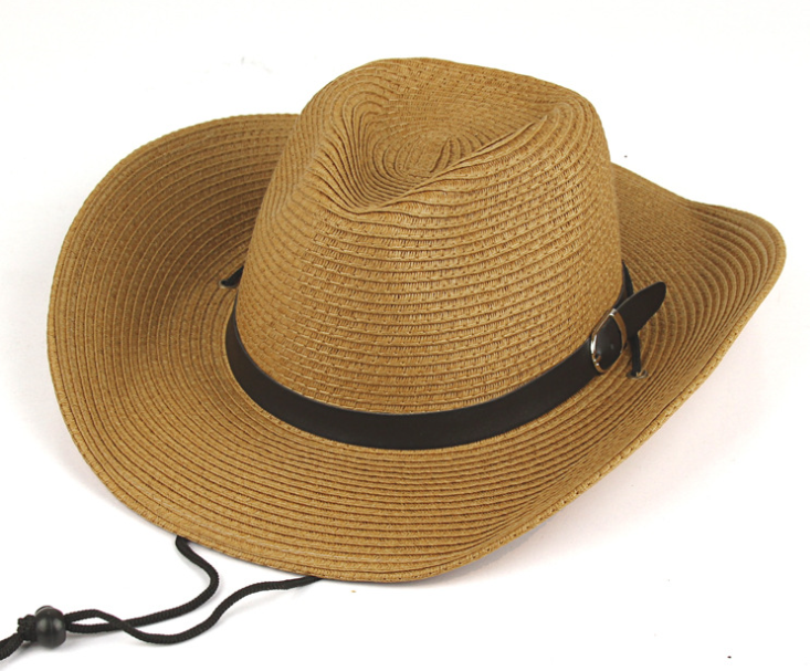 Leather Brand Straw Hat