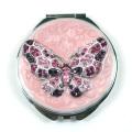 Ausgefallene Farbe Diamond Butterfly kompakte Spiegel