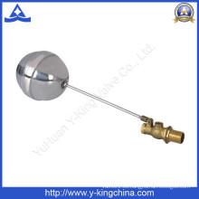 Válvula de bola de flotador de latón con bola de acero inoxidable (YD-3013)