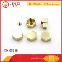 Rivets hexagonaux en alliage de zinc et goujons de bonne qualité
