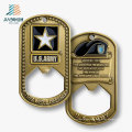 Best Sell Promotional Gift Custom Tag Metal Bottle Opener for Us Army Souvenir