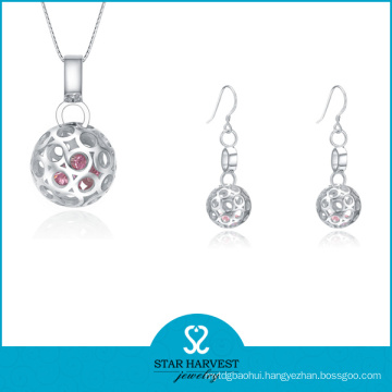Fashion Silver Earring and Necklace Jewelry for Lady (J-0167)