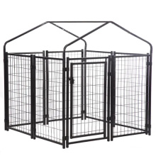 Dog Run Cage/pet Playpen Dog Kennel/metal Classic Large Galvanized Outdoor Pet Cages, Carriers & Houses for Dogs 1 Set 4.0mm