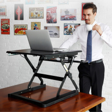 Sit Stand Desk Riser Foldable Notebook Desk Stand with Keyboard Tray