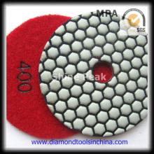Almofada de polimento seca flexível do diamante para o granito de mármore