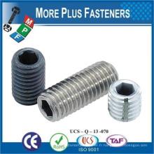 Fabriqué en Taiwan ISO 4026 ANSI B18 3 6M DIN913 Jeu à six pans creux Point plat