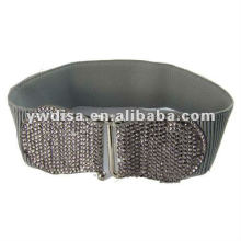 Crystals Buckle Elastic Belt For Woman