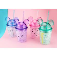 Fashion Double Wall Cold Drink Juice Cup