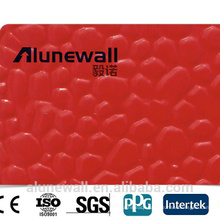 Alunewall different types of aluminum embossing composite panel ACP