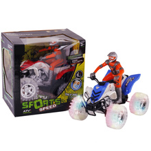 Transparent Wheels Friction Motorcycle New Toy with Music