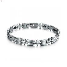 Venda quente cruz conectar pulseira, senhoras pulseira de aço inoxidável