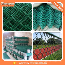 Niedriger Preis PVC beschichtet und verzinkt Kettenglied Zäune