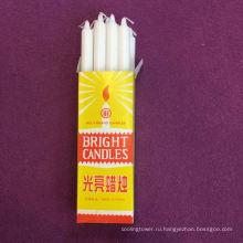 Белая восковая свеча для домашнего использования