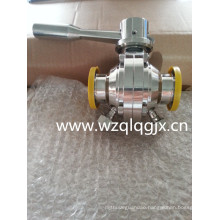 Sanitary Stainless Steel Threaded Welded Clamp Butterfly Ball Valve