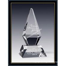 Prêmio de excelência de prêmio de cristal 10 polegadas de altura (nu-cw771)