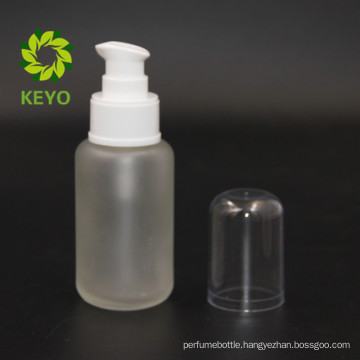 50ml frosted cosmetic glass pump bottle