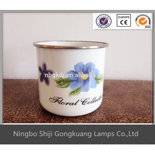 2016 new product enamelware coffee cup with SS rim from alibaba