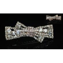 2015 Fashion Coréenne Bowknot Girls Rhinestone Hairgrip Crystal Hair Accessoire