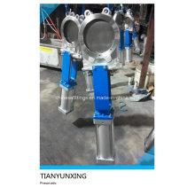 Válvula de compuerta de accionamiento neumático de acero inoxidable semiautomática