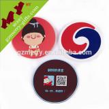 Custom size and logo custom pvc silicone coaster wholesale