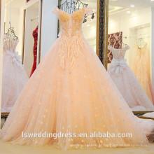 LS22019 decote de coração cair costas cintas cruzado plissado espartilho corpete vestido de noiva de luxo vestido de noiva sem mangas