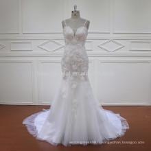HD011 dernière robe de mariée en dentelle sans manche sans mannequin 2017