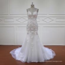 HD011 latest design sleeveless mermaid lace wedding dress 2017