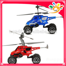 New helicopter 3 IN 1 3.5CH RC HELICOPTER AND RC CAR with Missile launch function U821 rc toy