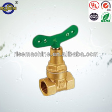 brass color brass gate valve with lock