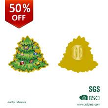 Pin de lapela de crachá de logotipo de árvore de Natal de desconto de 50%