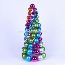 Elegante cuadro de plástico de Navidad Árbol de pelota decorativa
