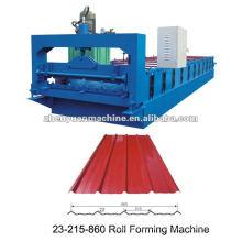 Trapezoidal color panel de acero panel de la formación de la máquina
