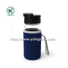Стеклянная бутылка с крышкой PP наружного покрытия из неопрена