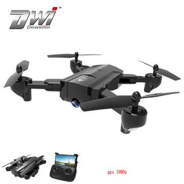DWI Dowellin 2018 Hot Camouflage RTF Positioning RC Drone quadcopter tracker wifi FPV with 1080P HD Camera GPS