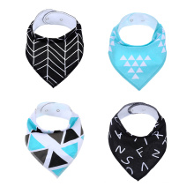 Gift Set For Boys, 4 Pack Natural Cotton With Snaps The Future Set Baby Bandana Drool Bibs Baby Bibs
