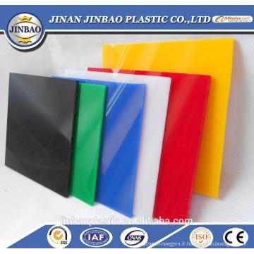 haute brillance bonne qualité lueur dans la feuille de plastique noir