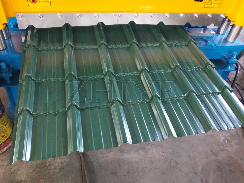 Zhiye New Style Colored Steel Glazed Roof Azulejo