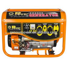 Combustible de gasolina 1000 vatios de generador de CA de salida de tipo monofásico para uso doméstico
